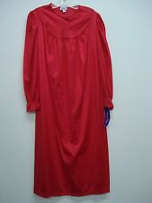 USA Made Nancy King Lingerie Soft Luster Nylon Gown Size Medium Red #635Q