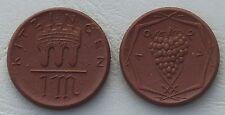 Porzellanmünze Kitzingen 1921 1 Mark 150a