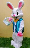 Adults Easter Bunny Mascot Costume Cartoon Rabbit Cosplay Fancy Dress Xmas New !