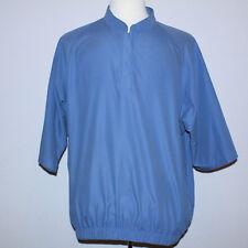 Very Nice FootJoy Short Sleeve Golf Pullover Wind Jacket Windbreaker Blue Sz L