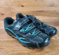 Pearl Izumi Woman's ALL ROAD II (2) Black Blue Cycling Shoe Size Eur 39, US 7.5