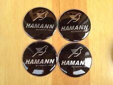 4PCSHAMANN 65mm Silver WheelCenterHub Caps Emblem Badge Decals Stickers