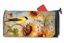 Magnet Works Mailwraps Yellow Finches Birds Original Magnetic Mailbox Wrap Cover