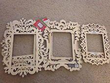 Laser Cut Wood Frame Lot Art Minds 7 Frames Unfinished Craft