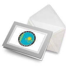 Greetings Card (Grey) - Astana Kazakhstan Flag Travel Stamp  #5331