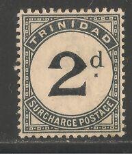 Trinidad #J3 (D1) VF MINT LH - 1885 2p Numeral - Postage Due - SCV $42.50