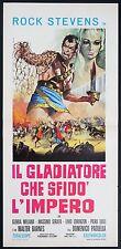 LOCANDINA, IL GLADIATORE CHE SFIDO' L'IMPERO, ROCK STEVENS,PAOLELLA, 2a EDIZIONE