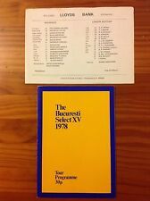 London Scottish v Bucharest Select XV 1978 Rugby Programme