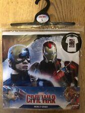 Men's Captain America Marvel T-shirt Civil War Brand New Small Medium Large XL