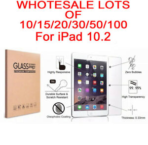 Lot Tempered Glass Screen Protector Cover For Apple iPad 10.2 inch 2019 7th Gen