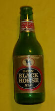 Dow Black Horse Ale 12 OZ Green Glass Bottle Nice Paper Label! Nice See!