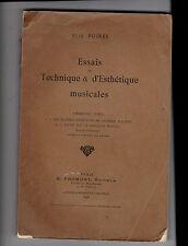 Essais de Technique et d'Esthétique musicales -  Elie Poirée - Wagner
