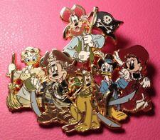 DISNEY PIN - Pirates of the Caribbean FAB 6 Mickey Mouse Daisy Pluto Goofy Jumbo