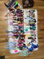 HUGE Rare Monster High/Ever After Dolls Lot W Acessories & Stands