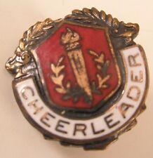 Enamel Cheerleader Vintage Lapel Pin/Tie Tack school club team