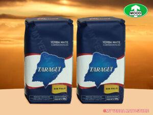 Yerba Mate - 1 Kilo - (2X 500 Grm) Taragui Pure Leaf - No Stems - Free Shipping