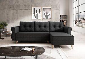 Couchgarnitur Sofa Sofagarnitur NEAPEL L mit Schlaffunktion Wohnlandschaft NEU