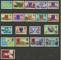 JERSEY 1976/7 JERSEY ARMS ALL 19 VALUES 1/2p TO £2 DEFINITIVE STAMPS MNH