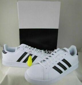 adidas Men's Grand Court Tennis Shoe, black/white/ - Men size 9.5