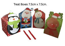 4  Small Christmas Gift Treat Hanging Boxes Decorations Sweets Presents Xmas