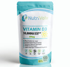 Vitamin D3 10000IU - 120 Tablets - High Strength Immune and Bone Support 250µg