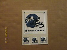 NFL Seattle Seahawks Vintage Sticker Sheet Lot of 4 Helmet Football Stickers