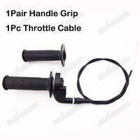 Pit Dirt Bike Twist Throttle Handle Grips Cable Set For CRF XR 50 70 TTR KLX110