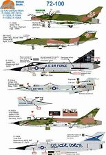 Wolfpak decals 72-100 secolo MARK Sabre THUNDERCHIEF Starfighter MC DONNELL