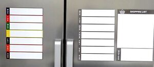 Magnetic Fridge Planner Whiteboard A4 Dry Wipe Meal Planner Shopping List Notes