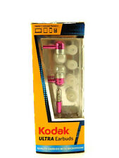 Kodak ULTRA PINK Stereo Headset METALLIC Earbuds With Microphone