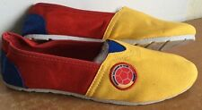 Shoes COLOMBIA Flag Flats Soccer Futbol Women Sz (39) Yellow Blue Red colu