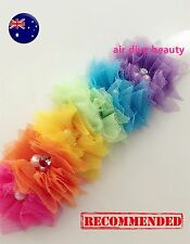 Girl Baby Kid Colorful Rainbow Flower Lace pearl colorful Hair head Headband