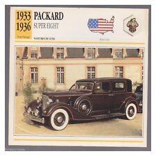 PACKARD SUPER EIGHT 1933/1936 fiche automobile edito service 1991