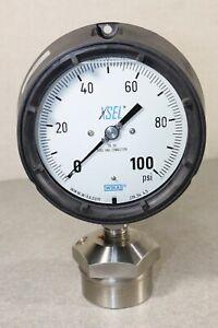 Wika XSEL 23x.34 4.5 100PSI Pressure Guage Glycerine Dial 316 SS Tube