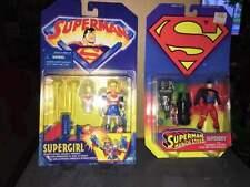 Kenner Superman Man of Steel Superboy & Superman TAS Supergirl figures