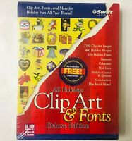 Swift Software All Holidays Clip Art & Fonts Deluxe Edition PC CD Rom Windows