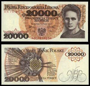 XO.025} POLAND 20000 zlotych 1989 UNC