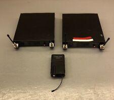Lot Of 2 Audio Technica ATW-R14 Wireless Diversity Receiver ATW-T51 Transmitter