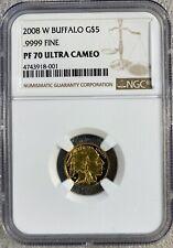 2008 W G$5 Buffalo .9999 Fine NGC PF70UC (8001)