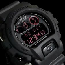 CASIO G-SHOCK, DW6900MS-1 DW-6900MS-1, DIGITAL, RED EYE, ALL MILITARY ARMY BLACK