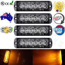 4X Amber Flashing Recovery Strobe LED Orange Grill Breakdown Light Beacon