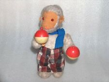 RARE VINTAGE WIND-UP TOY - MONKEY WITH MARACAS, GERMANY/GDR