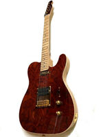 BEAUTIFUL CURLY MAPLE TOP 6 STRING CONCERT TELE STYLE ELECTRIC GUITAR