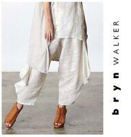 Et Lois Usa Linen Tanya Pant Shirred Tier Detail Crop