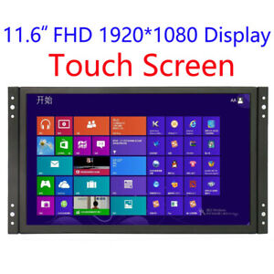 Frame Touch Monitor 11.6 inch  with VGA/HDMI/USB  capacitor plug & play Speakers