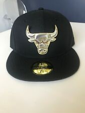 New Era Chicago Bulls 59FIFTY fitted hat, Metal Symbol 7 1/2
