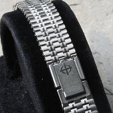 Ribbon link vintage Zodiac watch steel NSA band Swiss 1960/70s 12mm 13mm or 14mm