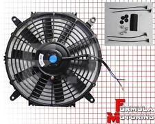 "12"" INCH 12V Slim Fan Push Pull Electric Radiator Cooling Mount Kit Universal"