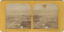 Ville à identifier Bord de Mer Espagne ? Stereo Diorama Vintage Albumine ca 1860