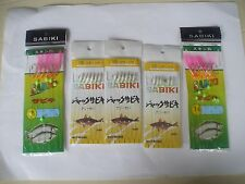 5 SETS OF  SABIKI  BAIT JIGS IN 2 SIZES 3 IN SIZE 10 AND 2 IN 16